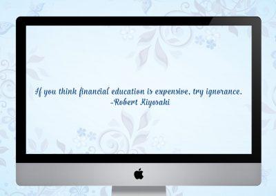 Financial education Mockup