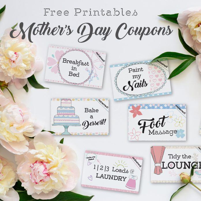 Free Printables: Mother's Day Coupons | Janice Designs