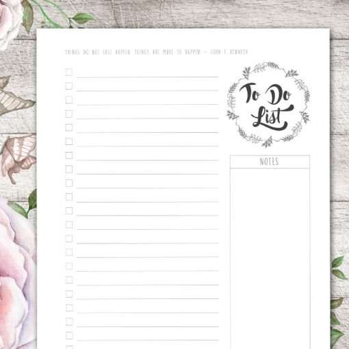 The To Do List planner is one of the most used and versatile planner you will ever have for personal or business use.
