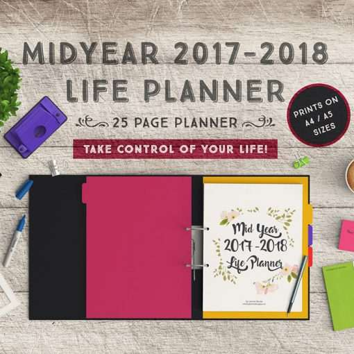 Mid Year Planner: 25 Page Life Planner