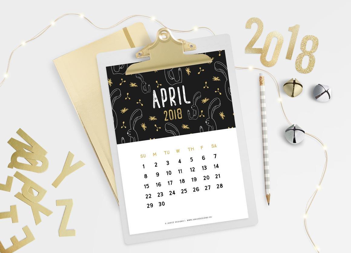 2018 Calendar: Black & Gold   A5 Binder   Clipboard   Wire-binding