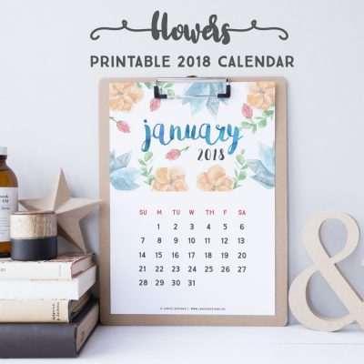 2018 Calendar: Flowers | A5 Binder | Clipboard | Wire-binding