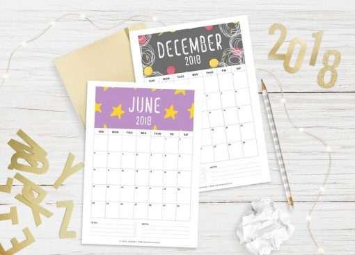 2018 Calendar: Patterns   A5 Binder   Clipboard   Wire-binding