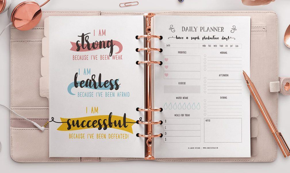 Top The Ultimate Inspiring Life Planner | Janice Designs HY76