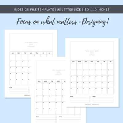 2018 Calendar Template_Blocks_US Letter