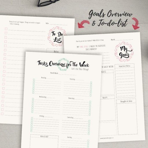 Goals Overview and To Do List