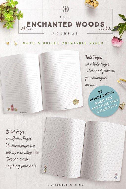 Enchanted-Woods-Journal-Note-Bullet-BONUS-Pages