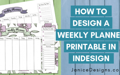How to Design a Weekly Planner Printable in Indesign