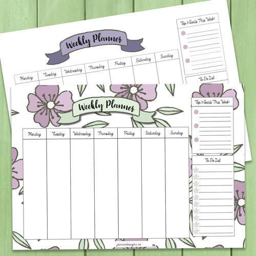 Weekly-Planner-Printables