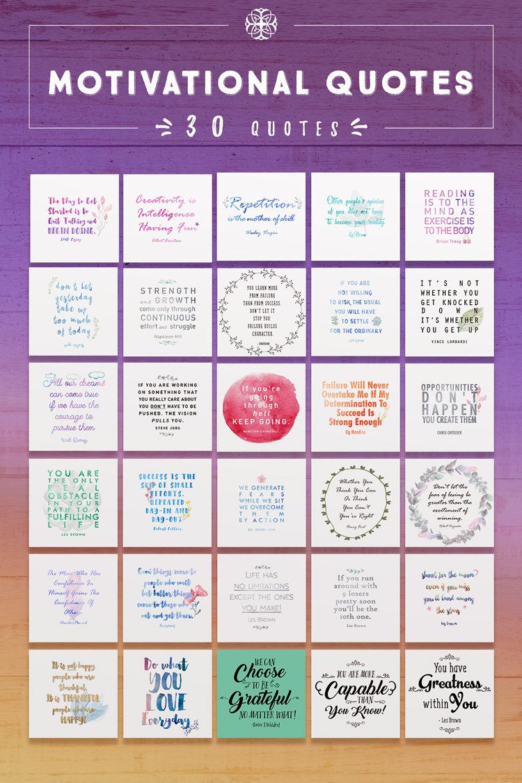 30 Motivational Quotes