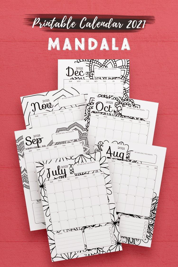 Mandala Calendar 2021